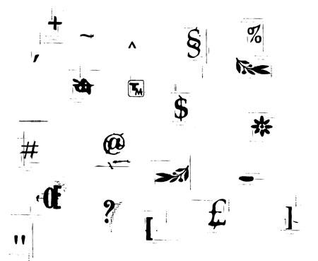 Как сделать символы буквы