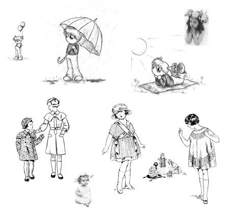 Красивые кисти с изображением детей