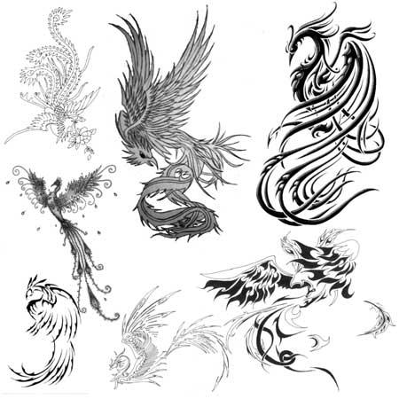 Кисть для фотошопа phoenix